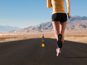Girl on a Desert Run 460