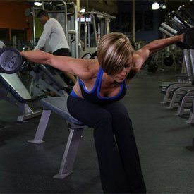 DUMBBELL BENT-OVER REAR LATERAL RAISE