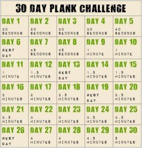 30 days of plank workout for getting ready for summer