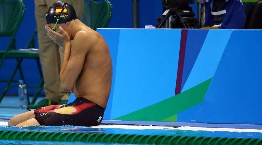Spanish swimmer false start