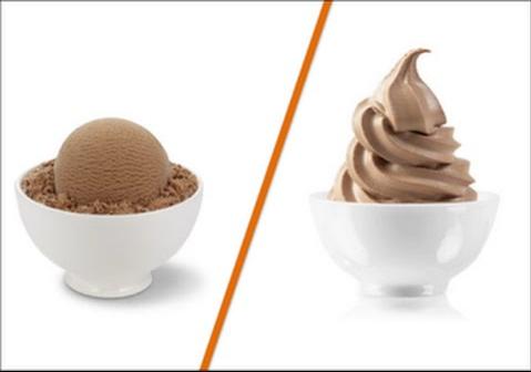 frozen yogurt instead of ice cream